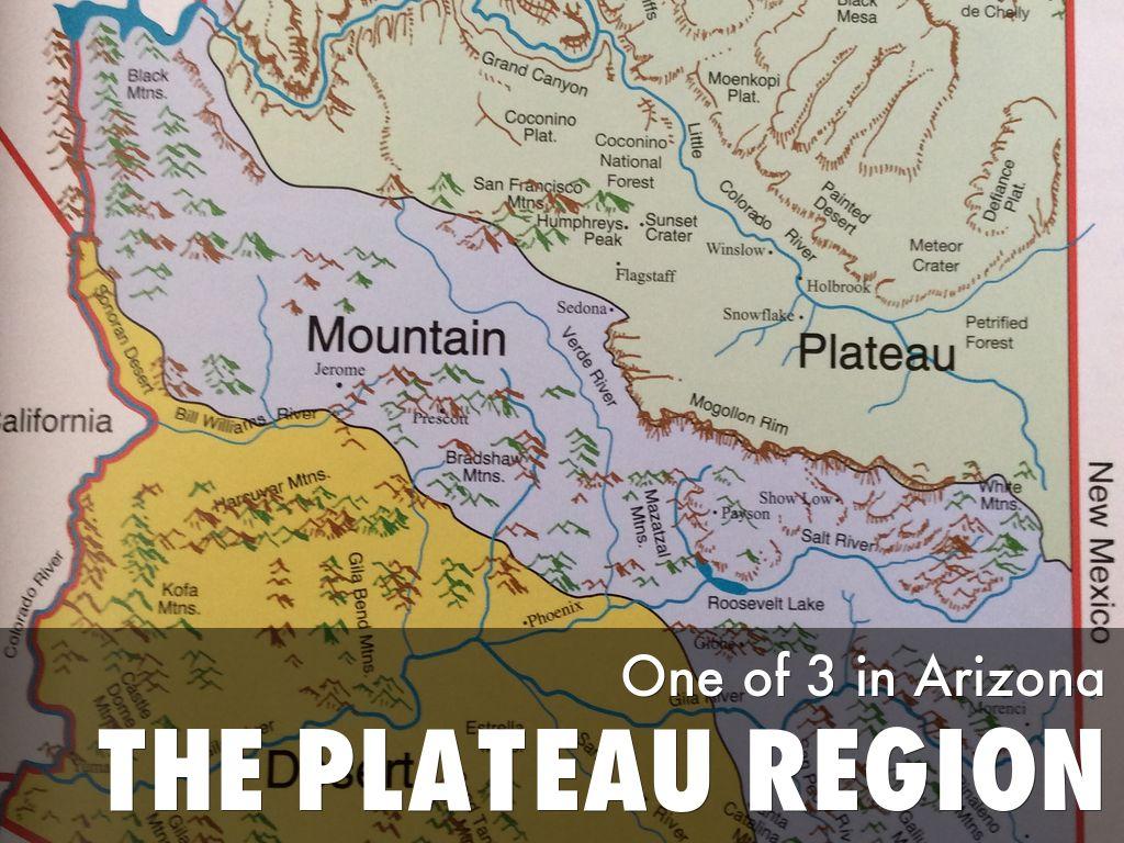 Map Of Arizona Regions.3 Regions Of Arizona By Rebeckah Winans