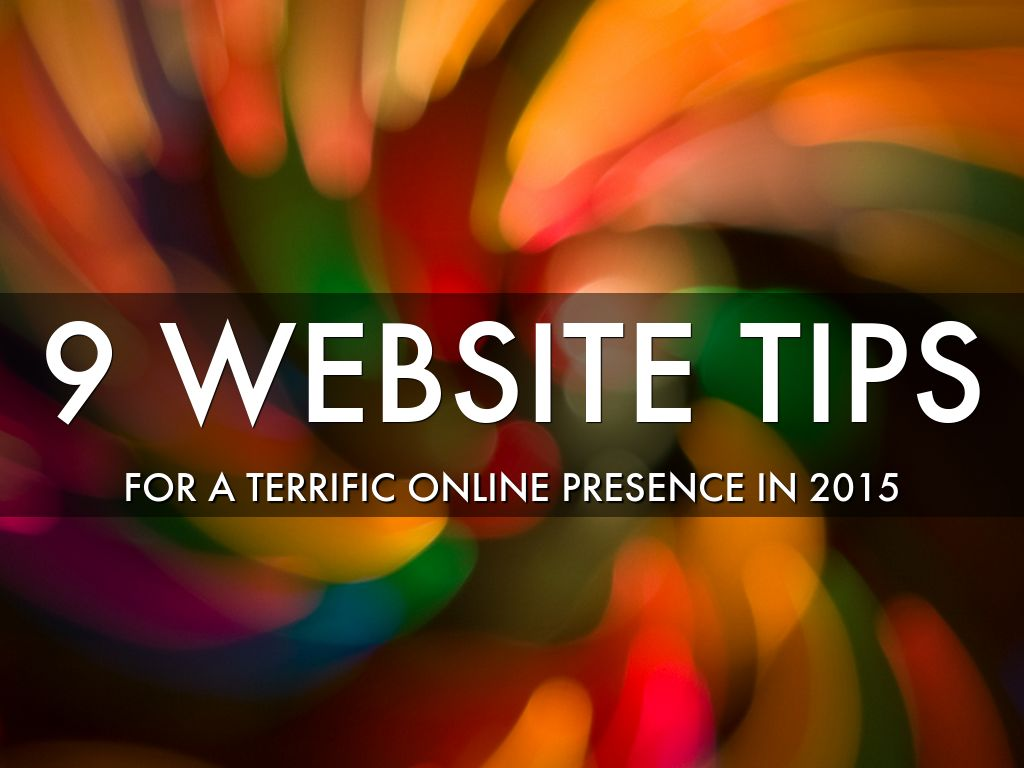 9 Website Tips for 2015