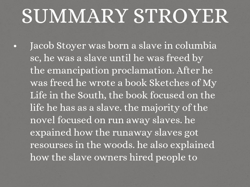 Summary Stroyer
