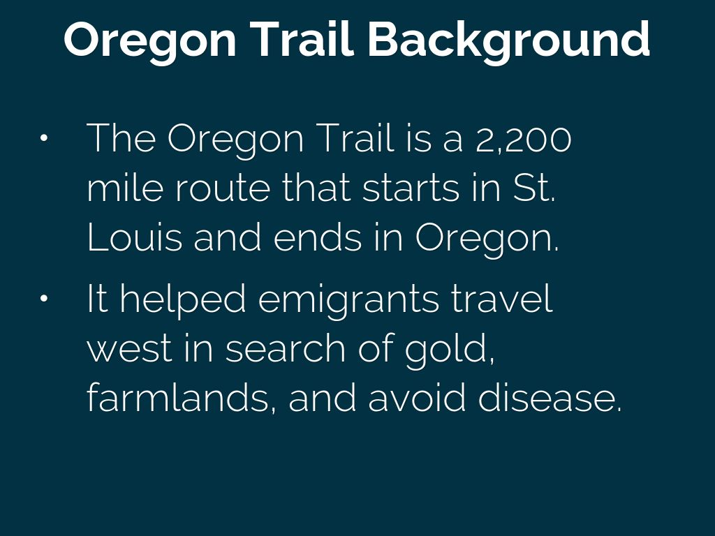 the oregon trail travelers embarking on a new life