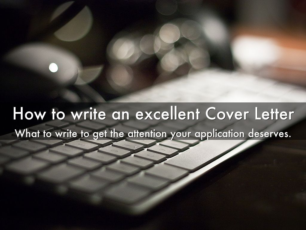 Three excellent cover letter examples