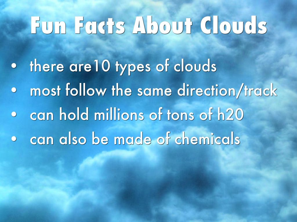 4 types of clouds by stansell u0026 39 s class