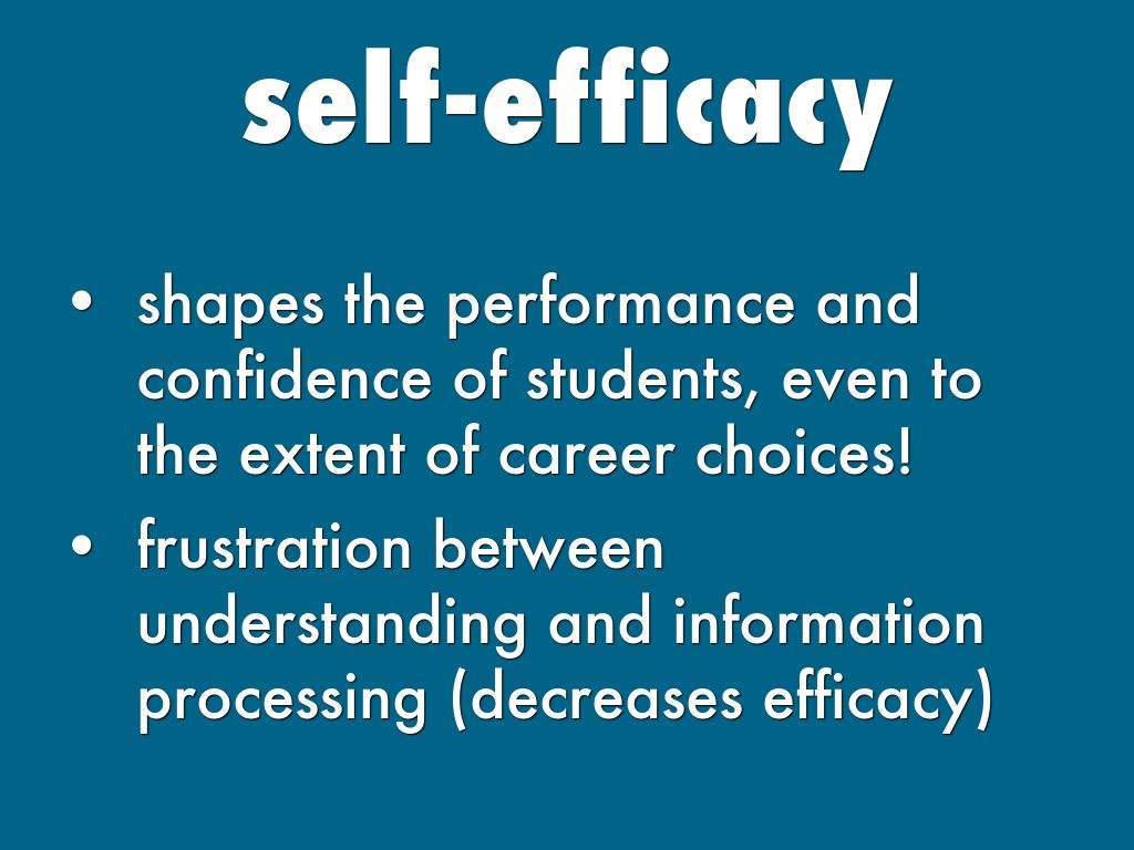 self-efficacy and dissertation performance among sport students