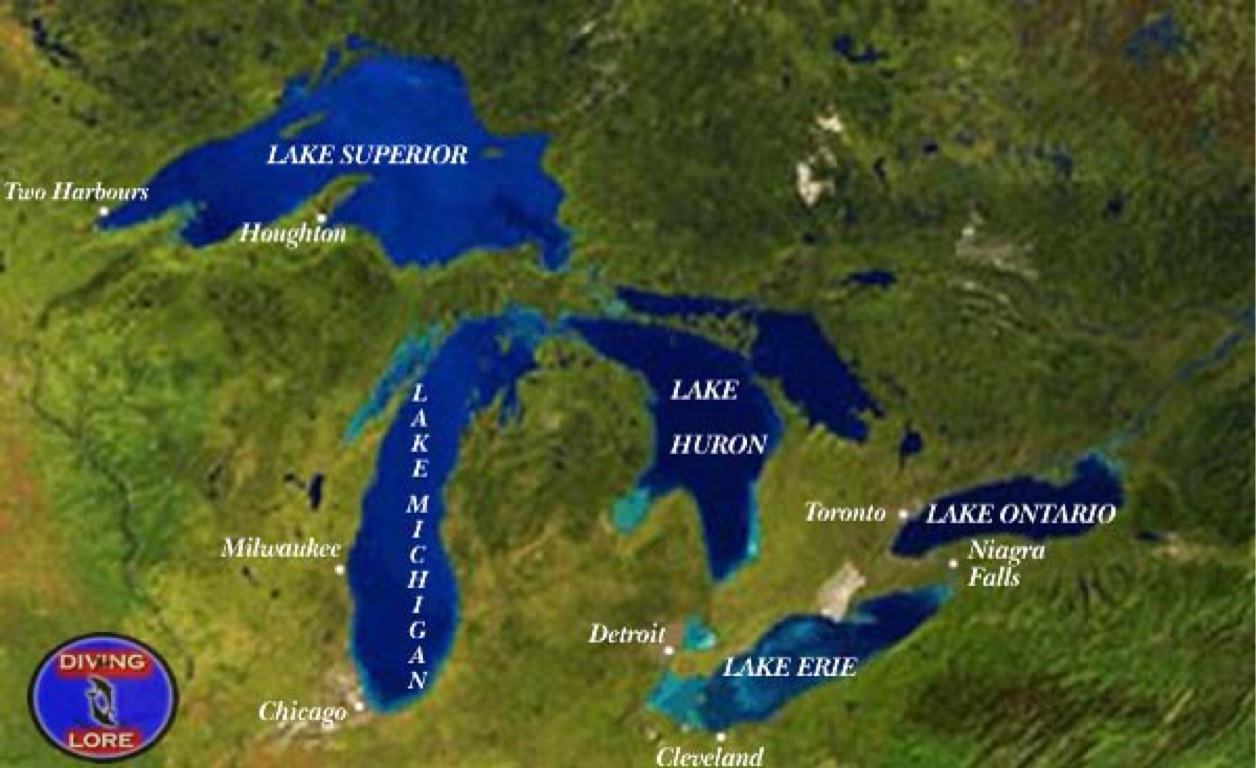 Diagram Al Us Map Great Lakes Names Download Diagram And Map Of Great Lakes Of