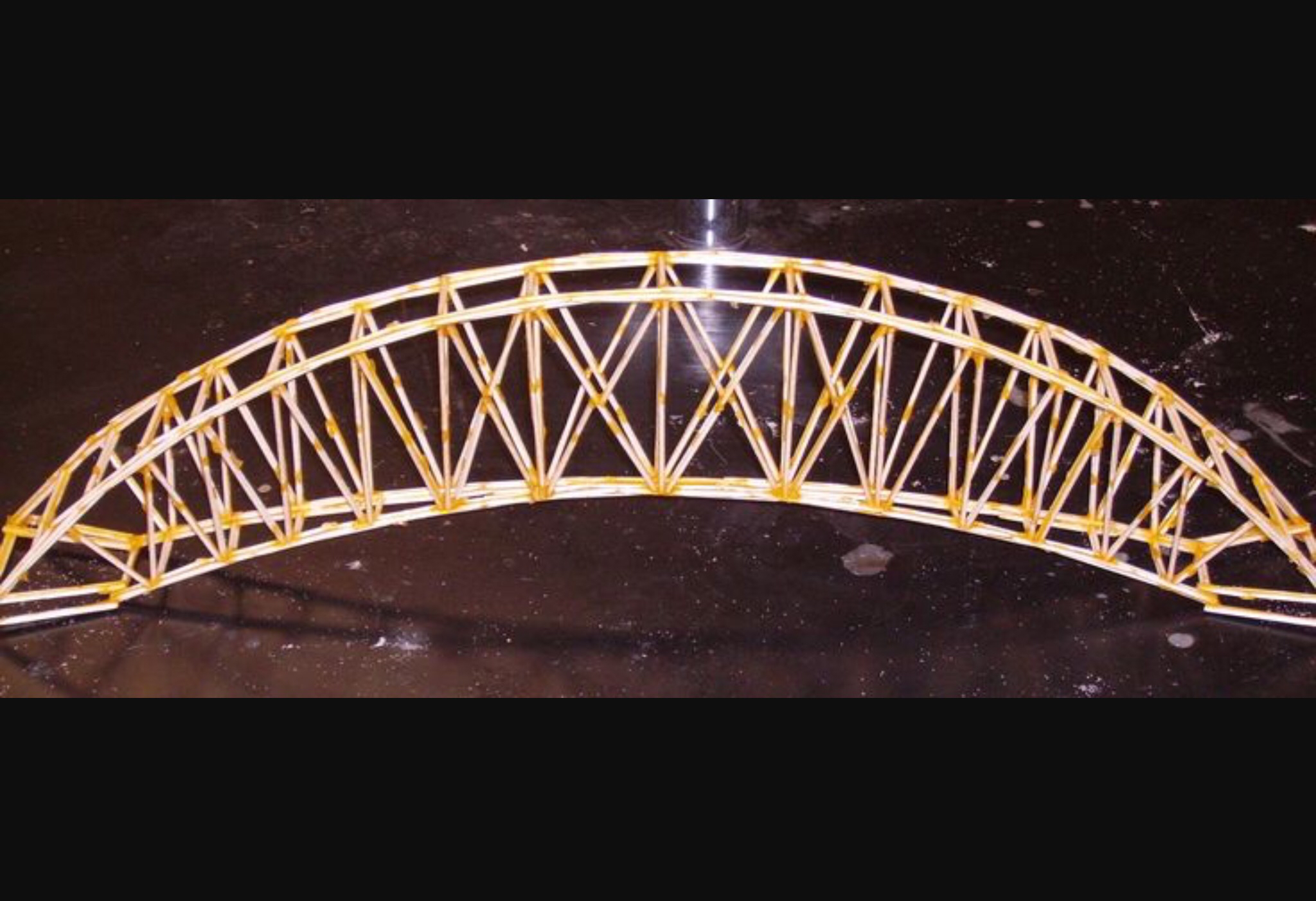 bridge made of toothpicks