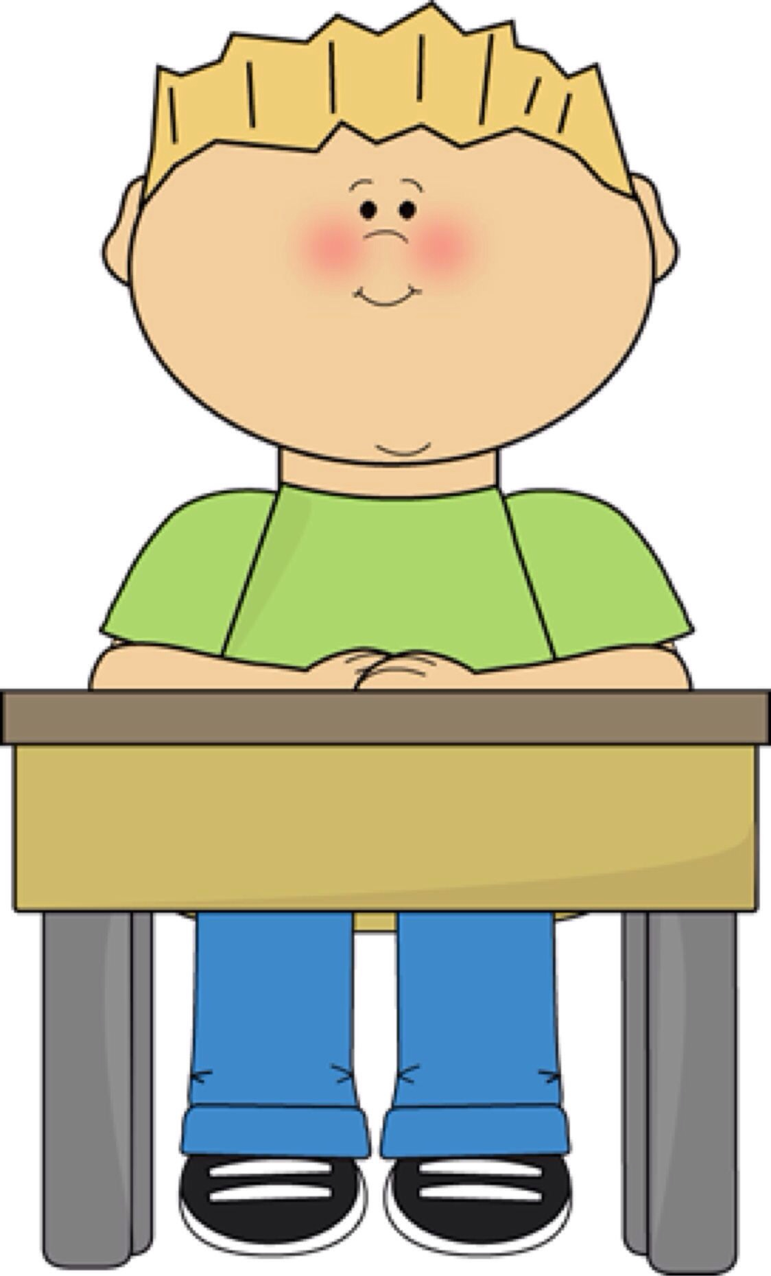 Child Sitting At Desk Clipart Hostgarcia