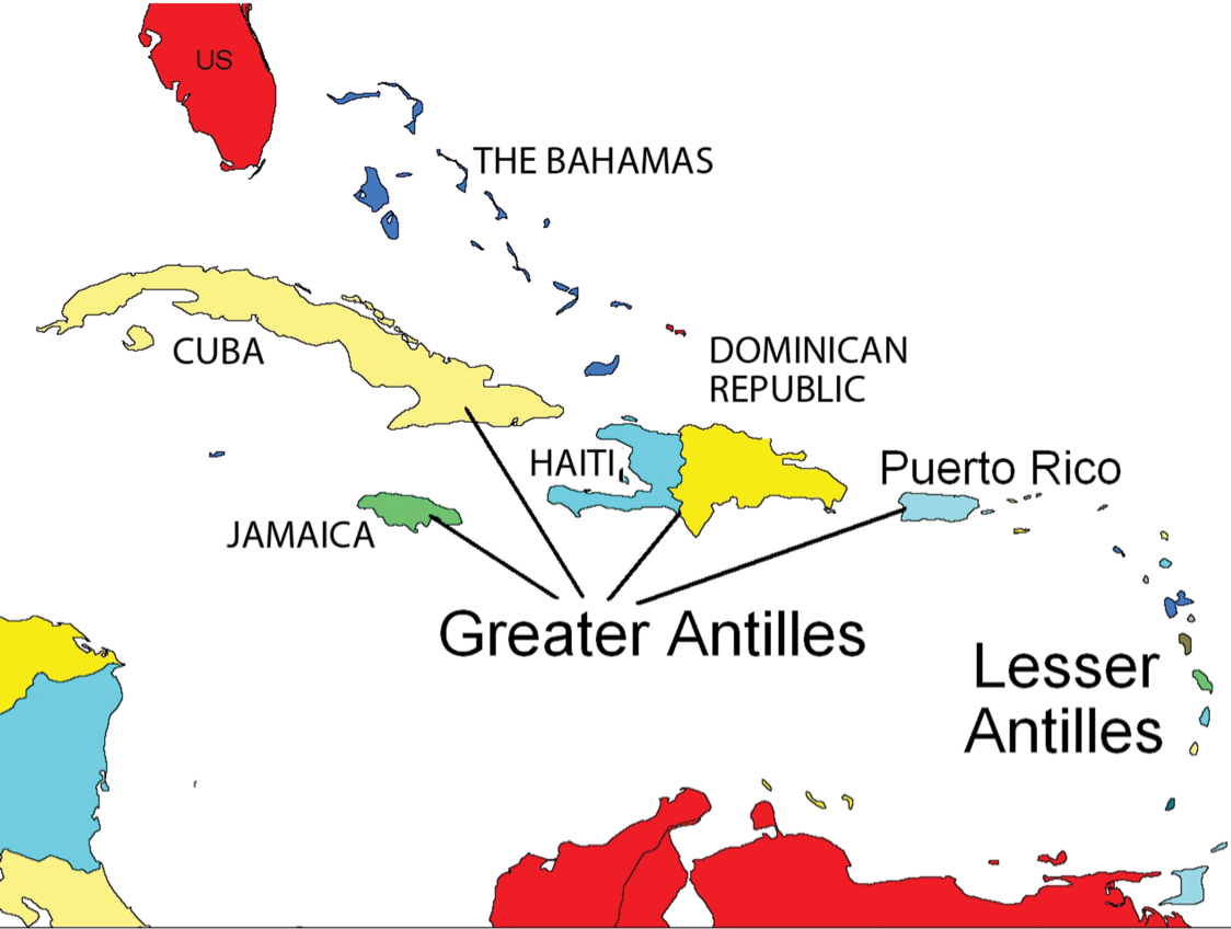 Central America And Caribbean By Sabrina Miller - Map of central america and the caribbean islands