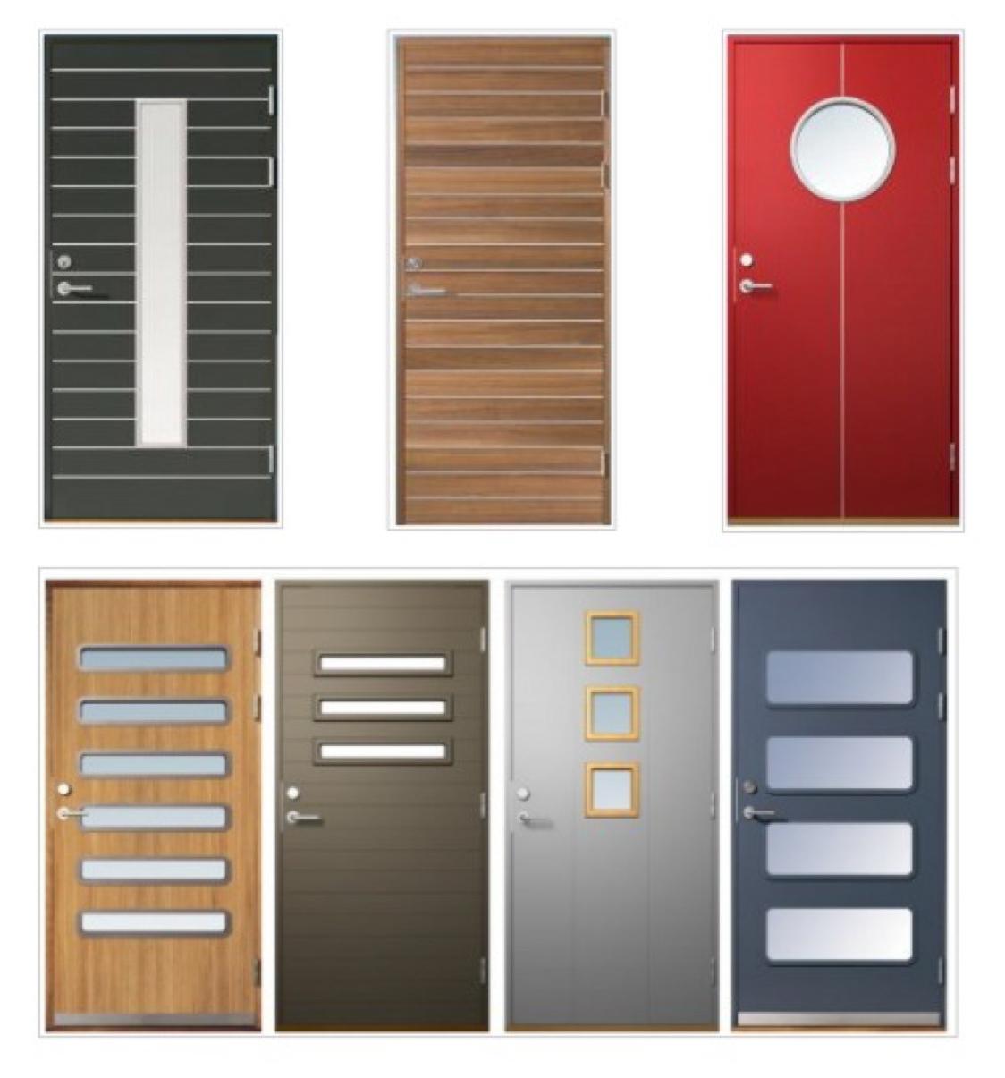 Puertas de madera exterior modernas elegant modelo for Puertas diferentes