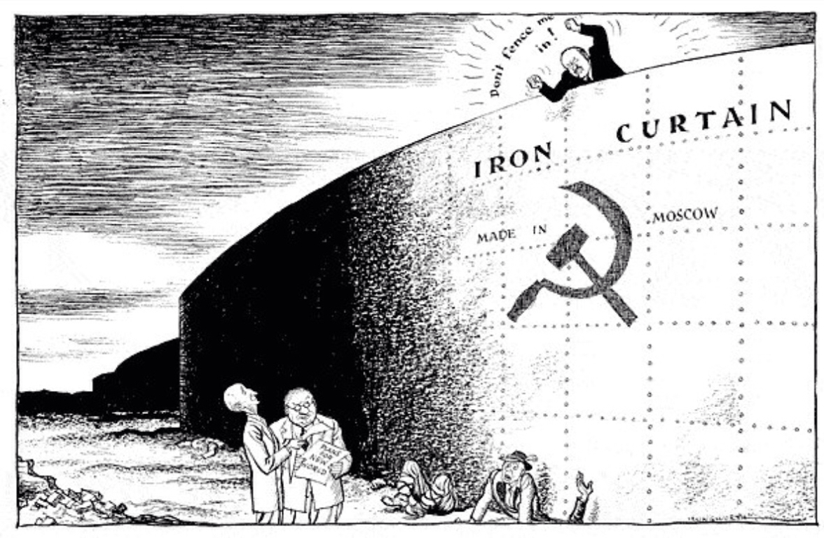 Iron curtain cartoon - Iron Curtain Political Cartoons