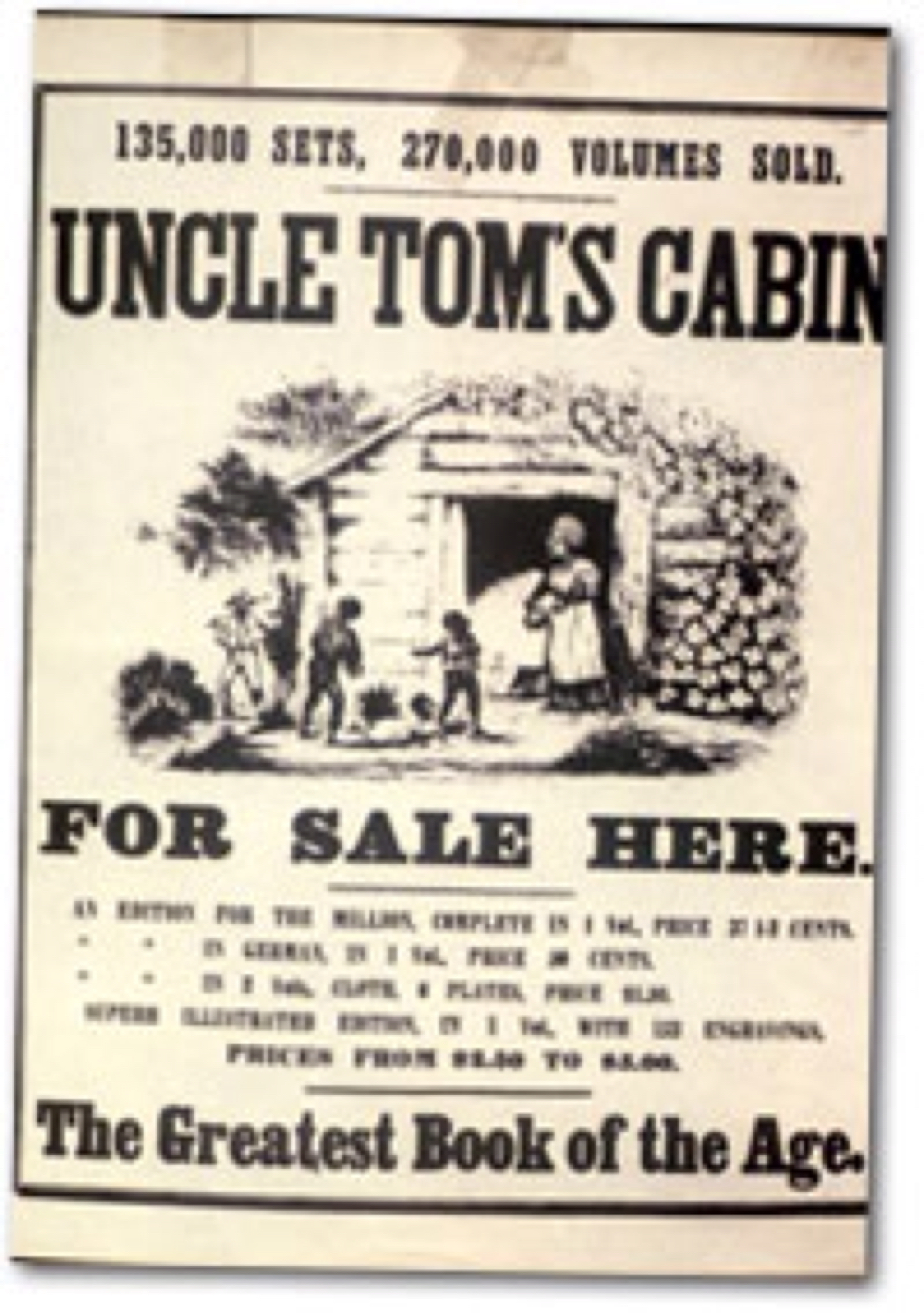 "a reading report on uncle toms cabin by harriet beecher stowe For printing a ""false report"" that she had been called an""uncle  page of harriet beecher stowe's ""uncle tom's cabin"" and two  uncle toms."