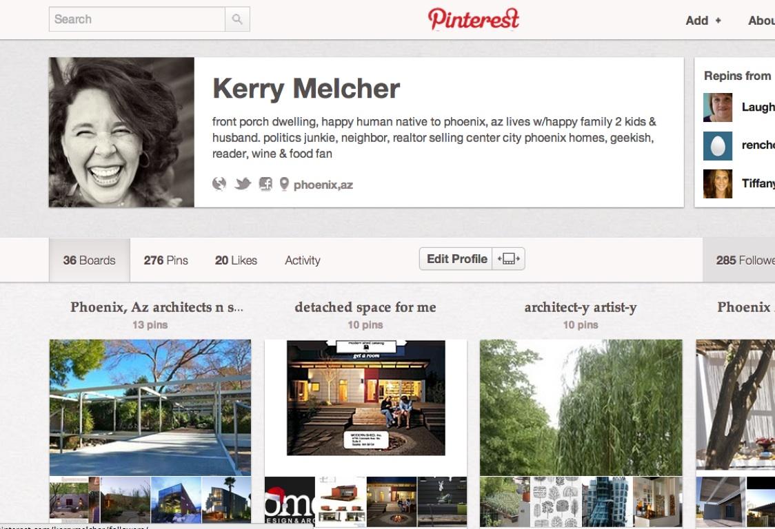 Pinterest by Kerry Melcher