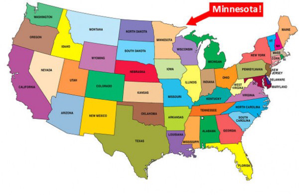 Minnesota By Courtney Lloyd - Minnesota on a us map