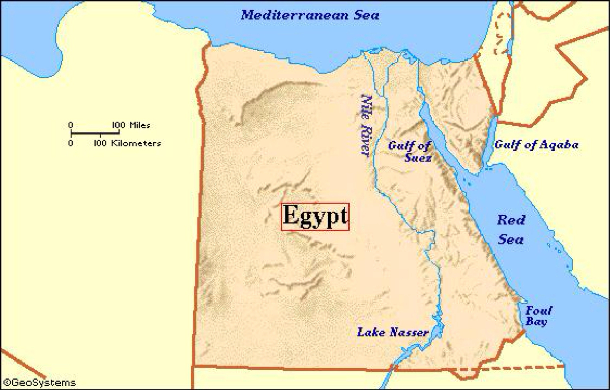 Ancient Egypt By Ashbra - Map of egypt location