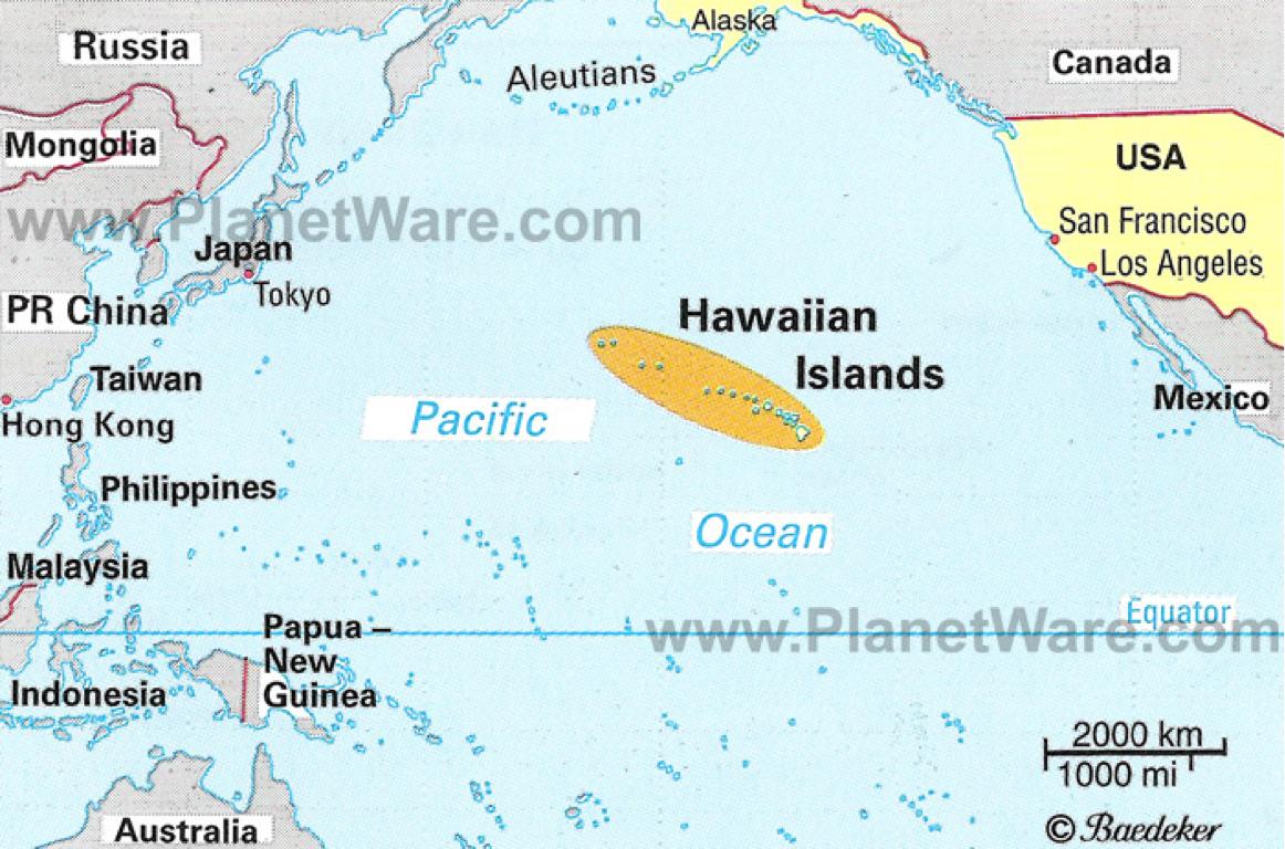 Hawaii World Map Location  Montana Map