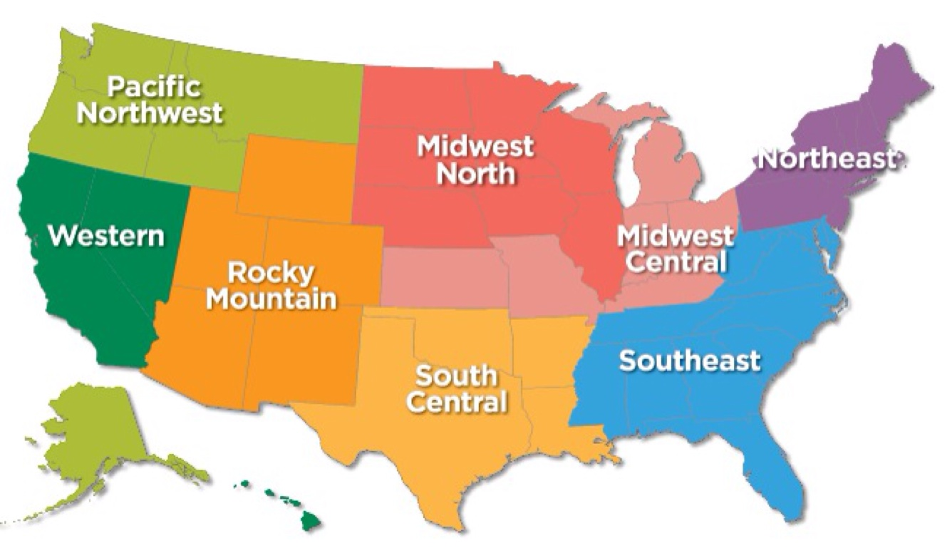 Us Region Map Clays American System Map Blank Us Regions Map - Us northeast region map