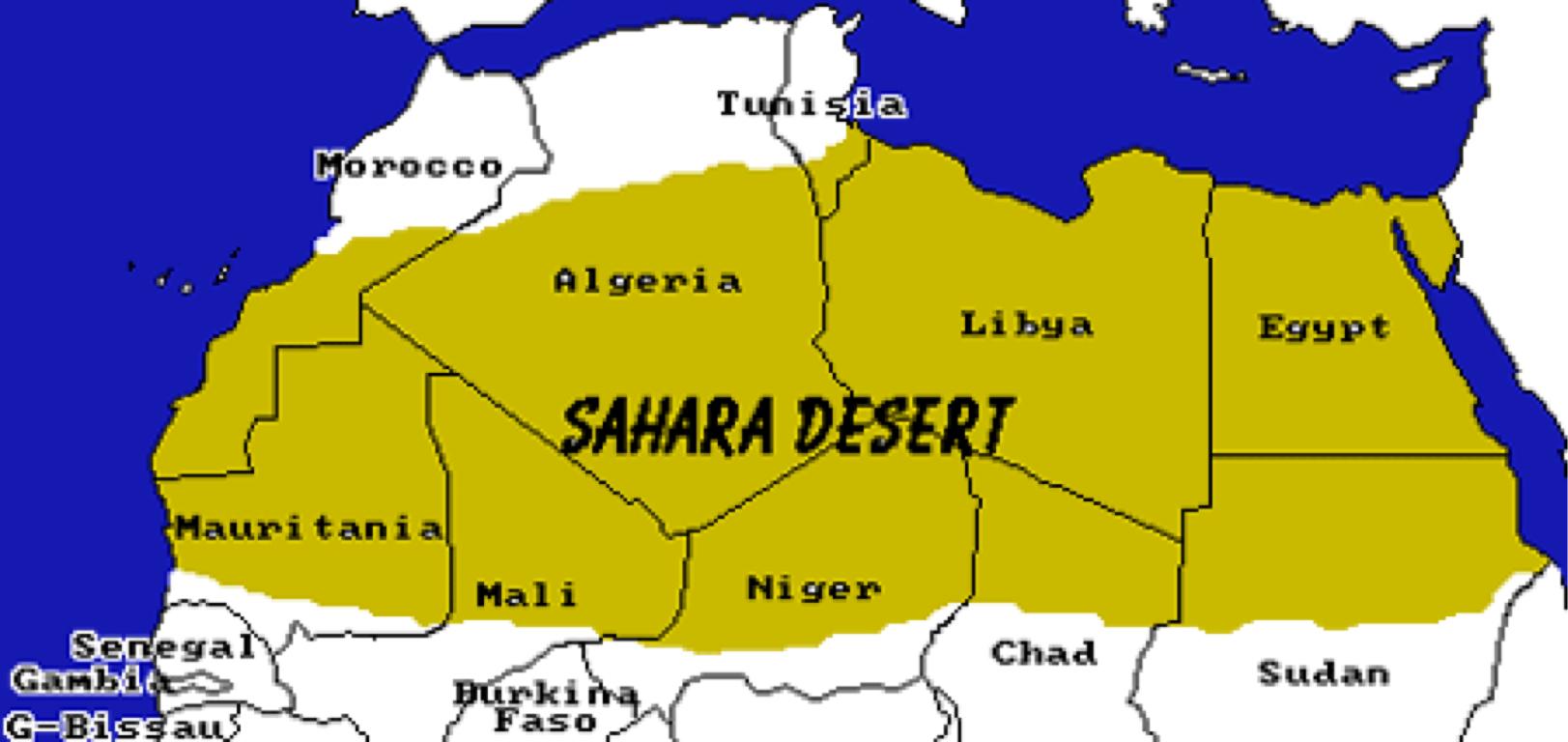Map Of Africa Sahara Desert.Sahara Desert Location In Africa Map Biofocuscommunicatie