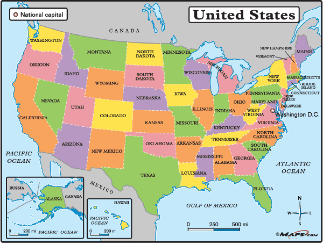 Geography Blog Printable United States Maps Print Out A Blank Map - Us map with capitals and oceans