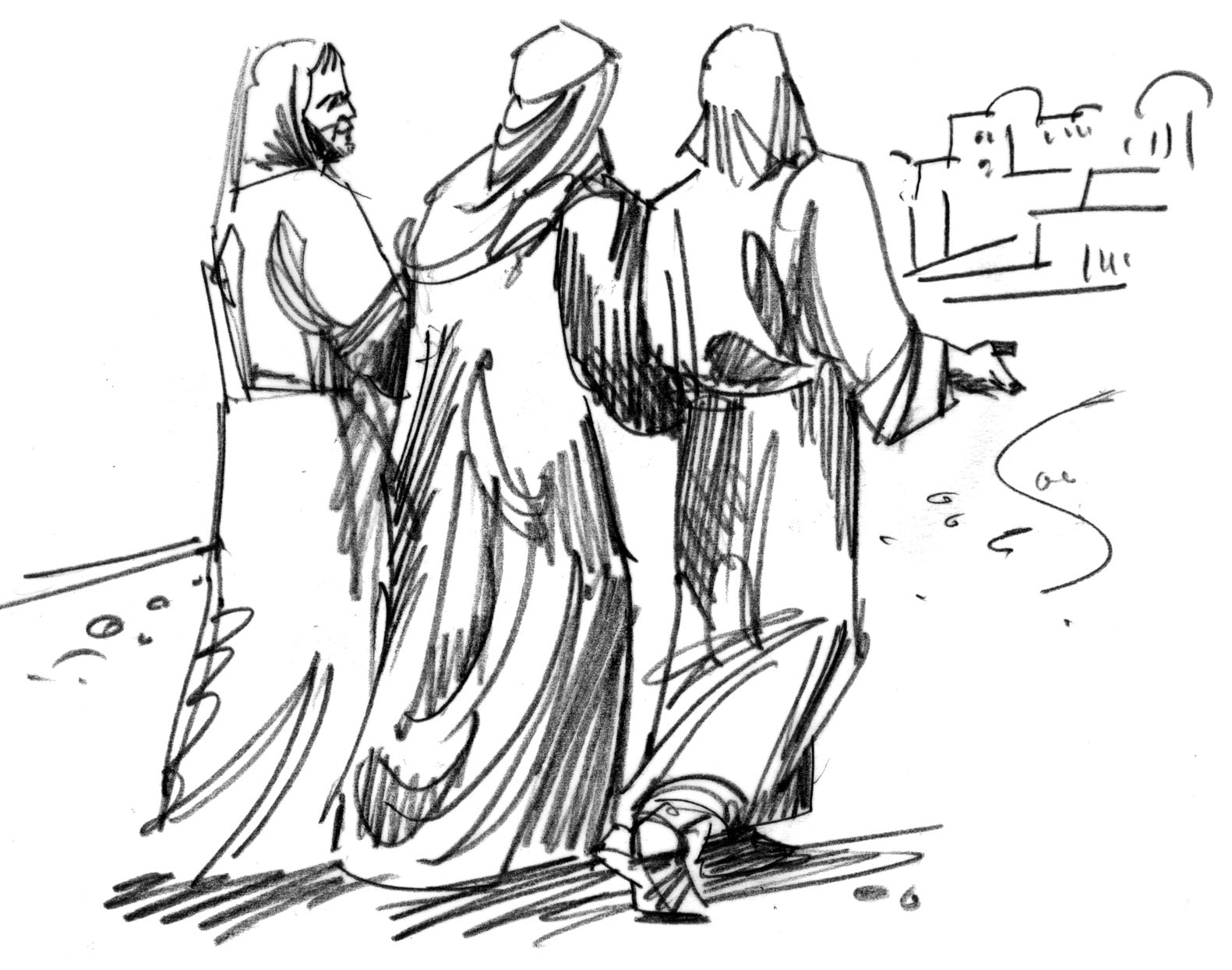 Free coloring pages road to emmaus - Free Coloring Pages Road To Emmaus 4