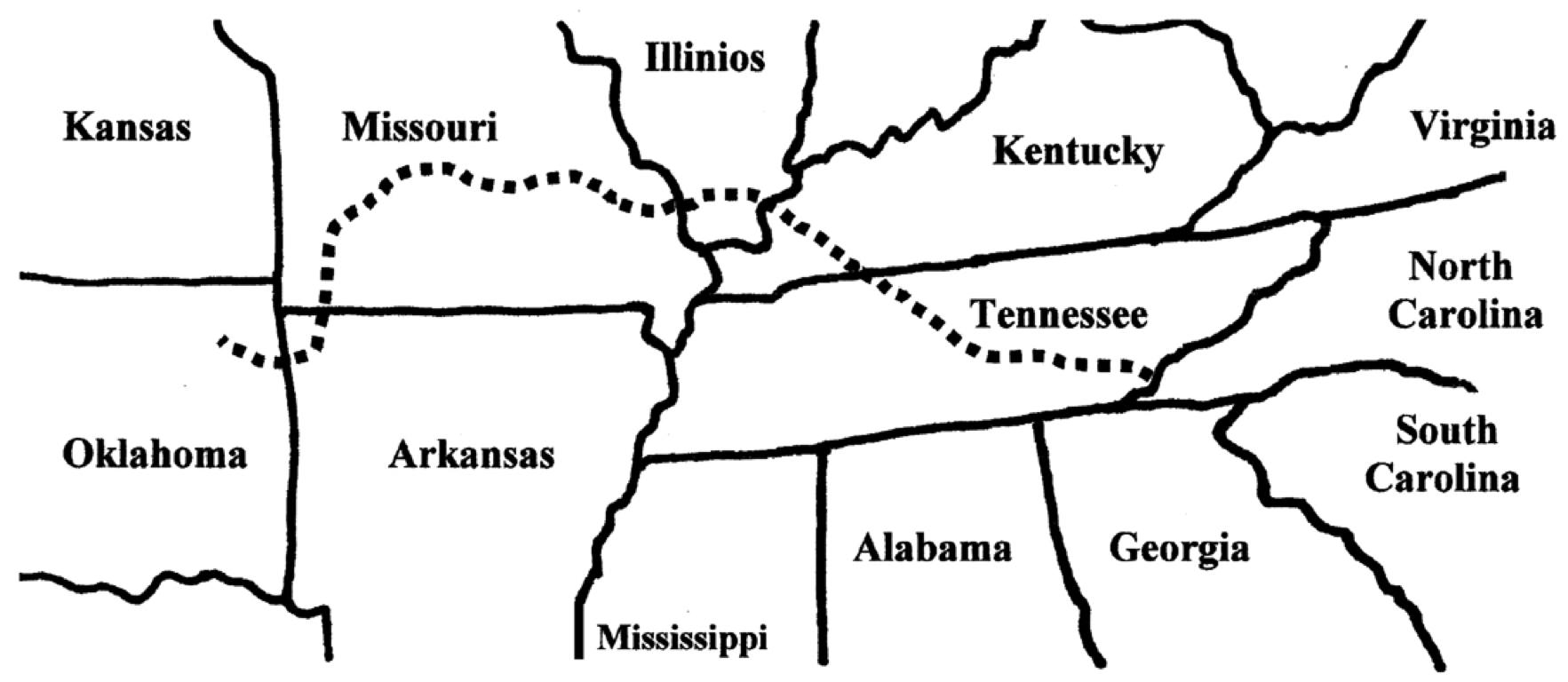 Trail Of Tears Oklahoma Map.Trail Of Tears By Ryann Liljenstolpe