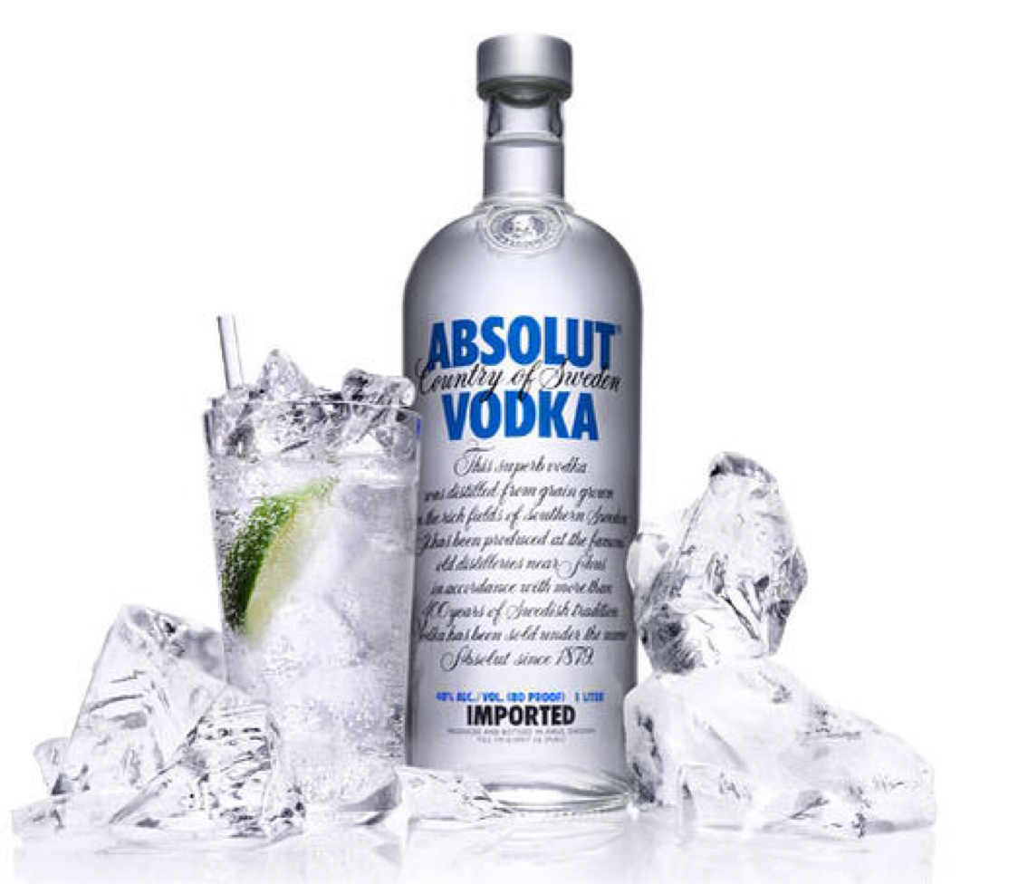 Image result for absolut vodka - 750 ml bottle