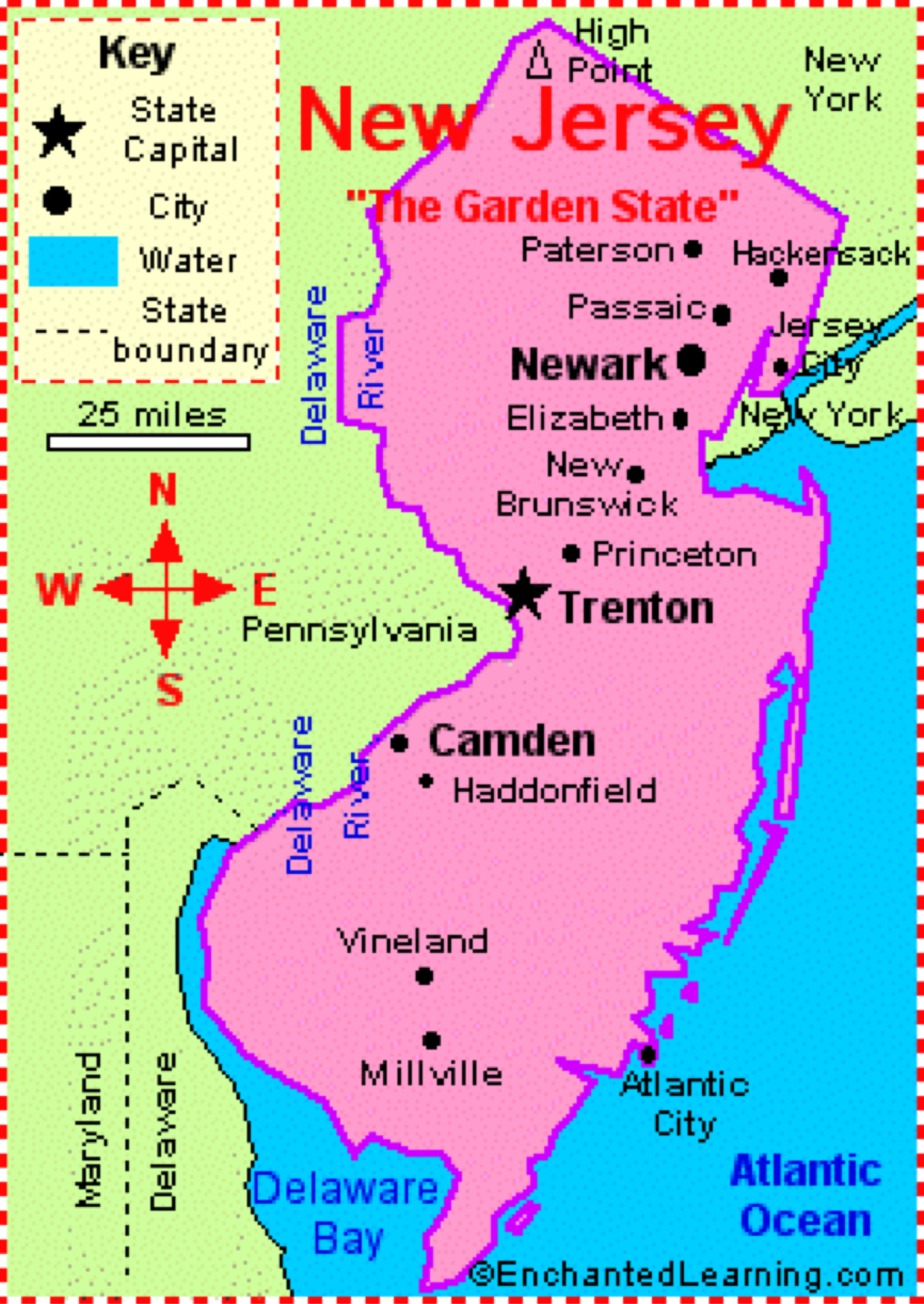 new jersey 13 colonies map