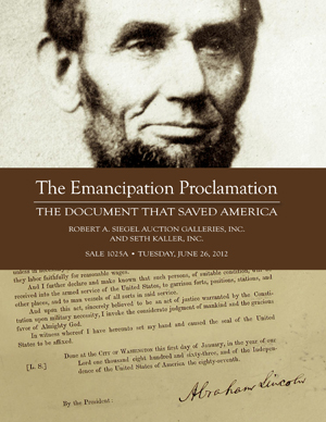 emancipation proclamation by k