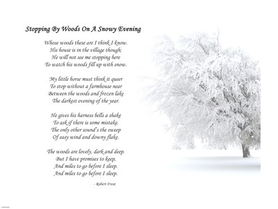 Copy of Stopping By woods On A Snowy Evening by