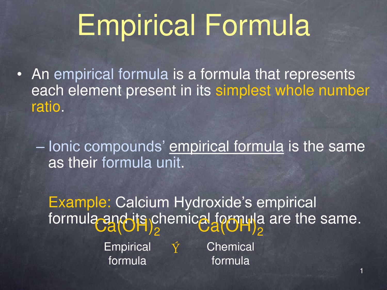 Empirical Formula by christianzman23
