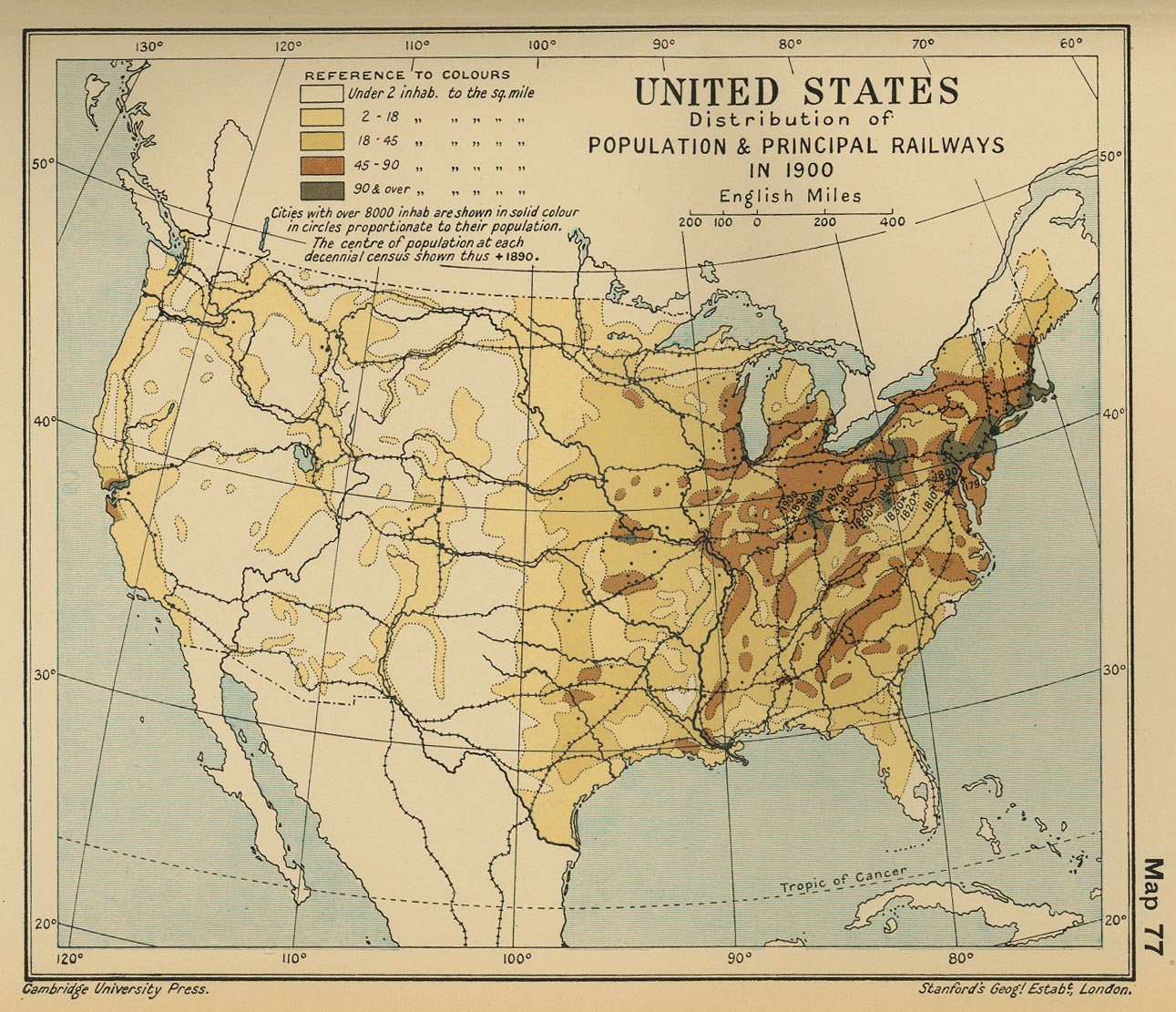 Census Through The Decades Project By Aanoahhayes - Map of us population of immigrants around 1900s