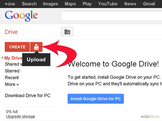 How to Add Files to Google Drive Online