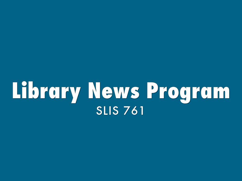 Library News Program