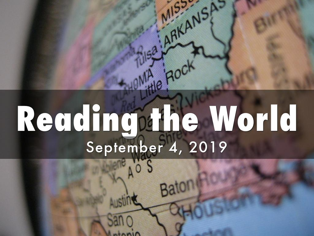 Fall 2019 Assembly: Reading the World
