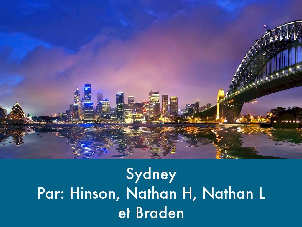 Bienveune le Sydney