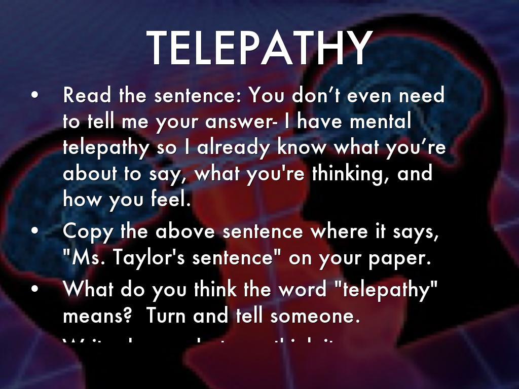 telepathic communication essay