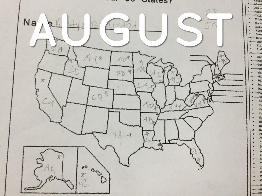 50 States Map Test by Kirstyn nstad on