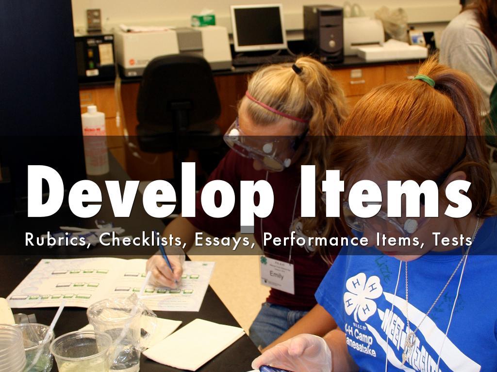 developing rubrics for essay test
