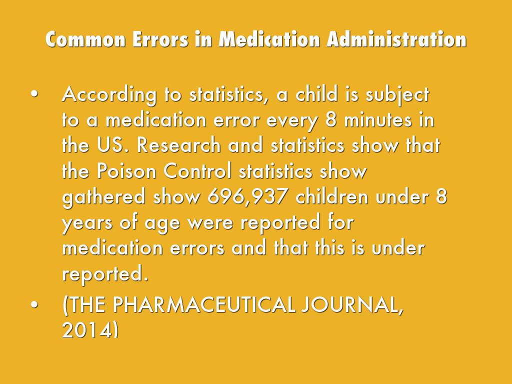 Medication Administration & Prevention of Allergy by