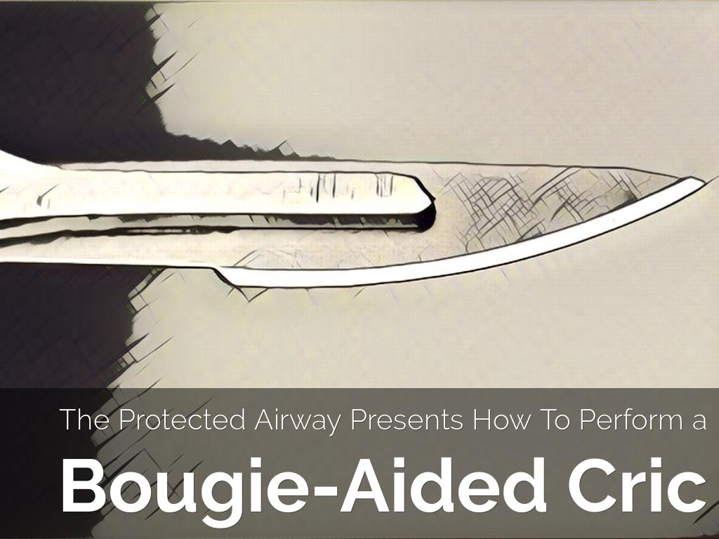 Another story set free with @HaikuDeck Bougie-Aided Cricothyroidotomy.