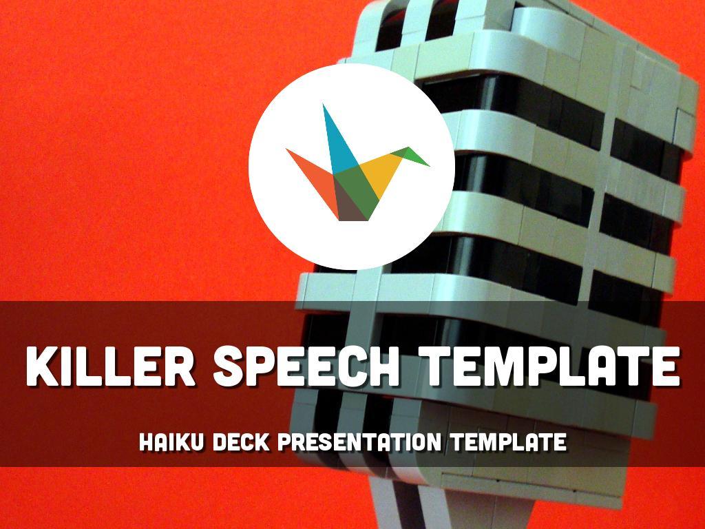 Copy of Killer Speech Template