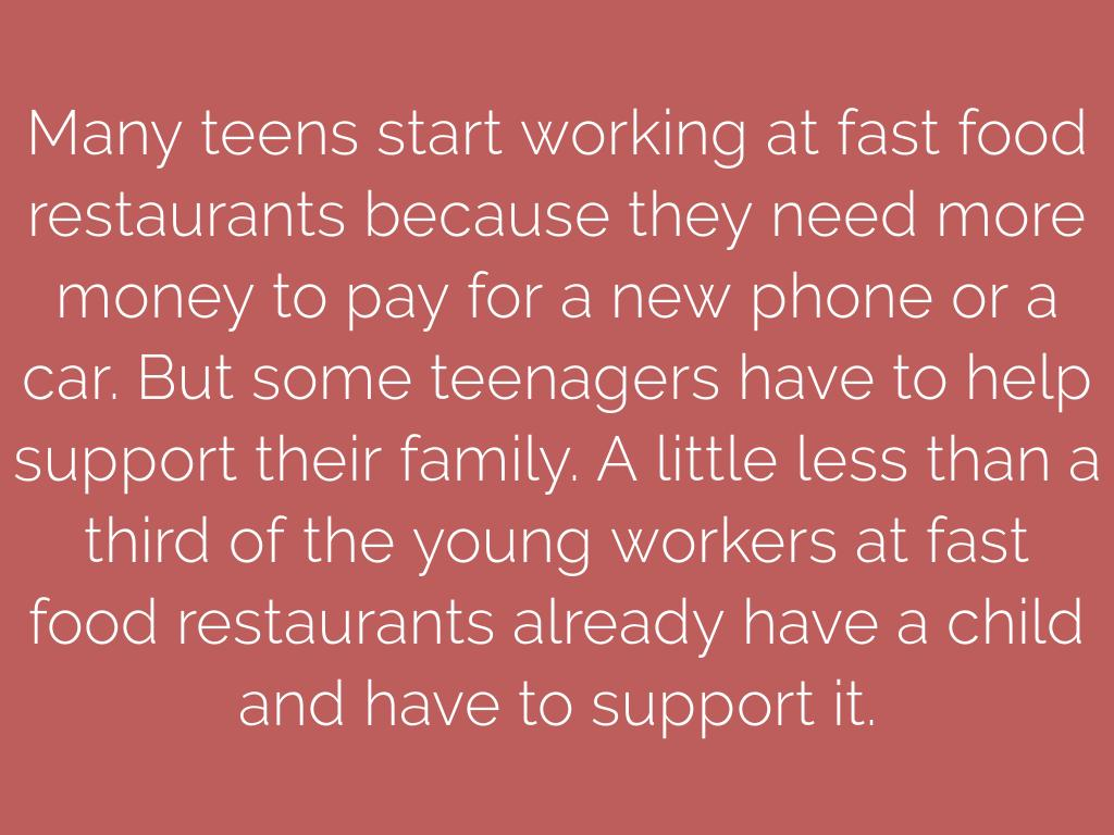 Working Conditions and Salary in McDonalds