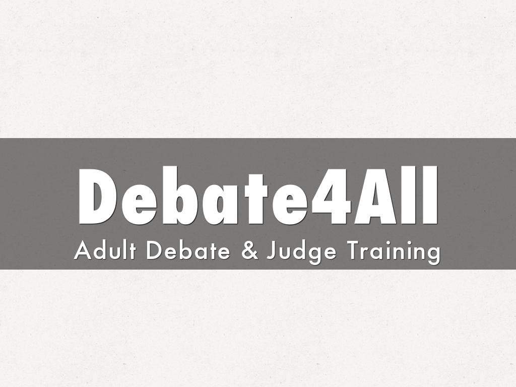 Debate4All - About Training