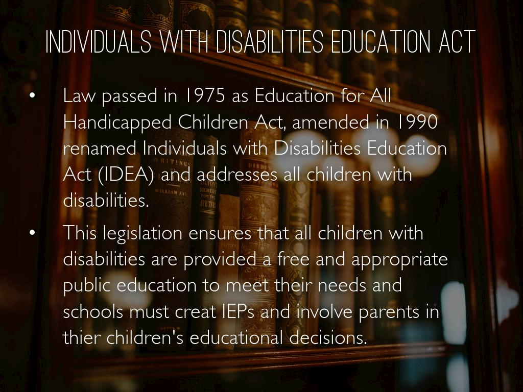 education for all handicapped children act of 1975