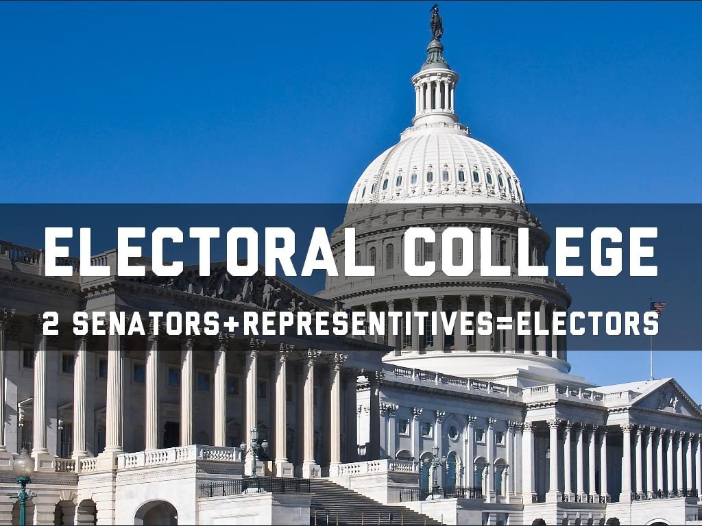 When Americans vote for a President and Vice President they are actually voting for presidential electors known collectively as the electoral college