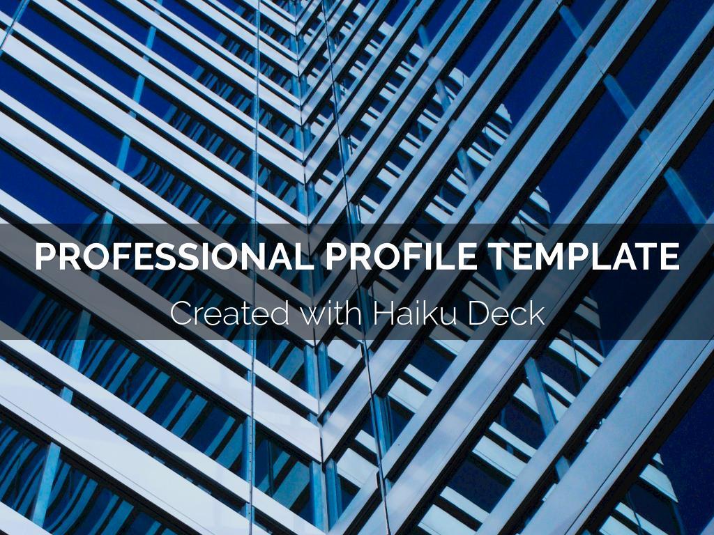 Copie de Professional Profile Template