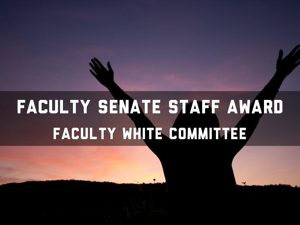 Faculty Senate Staff Award