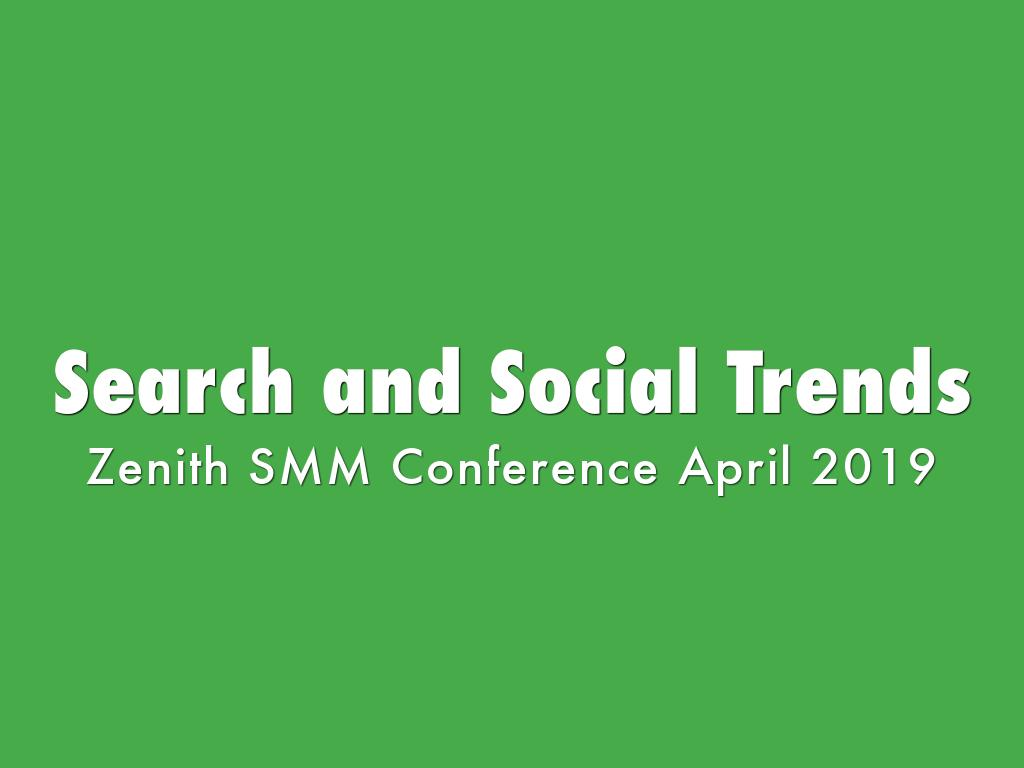 Search and Social Trends