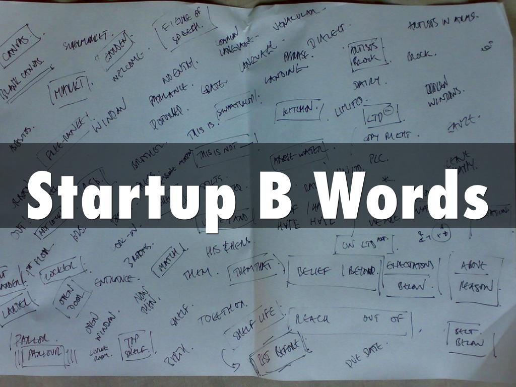 StartupB Words