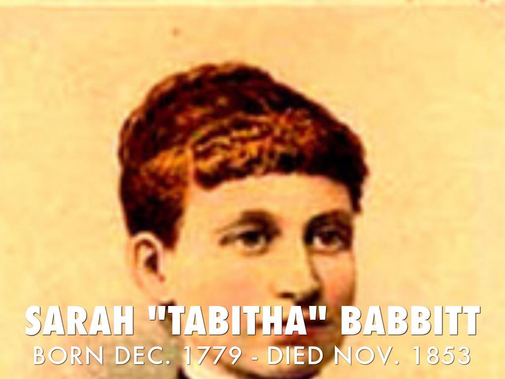 """SARAH """"TABITHA"""" BABBITT"""