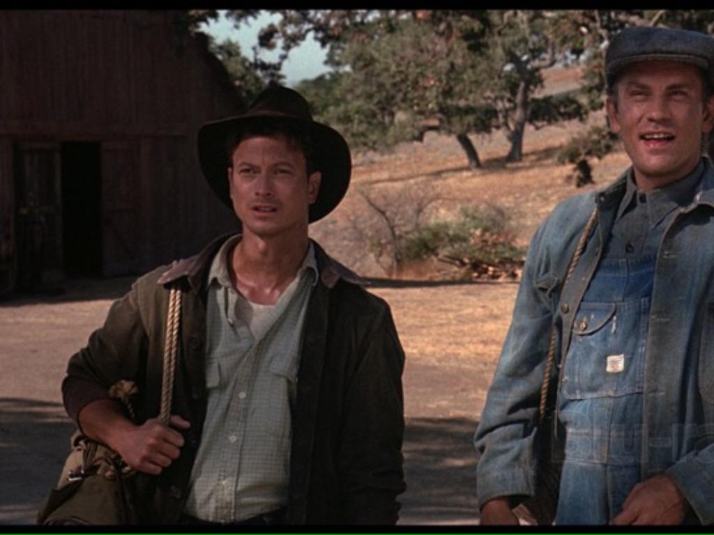 an analysis of the movie critique of of mice and men Of mice and men is a novella written by author john steinbeck published in 1937, it tells the story of george milton and lennie small, two displaced migrant ranch workers.
