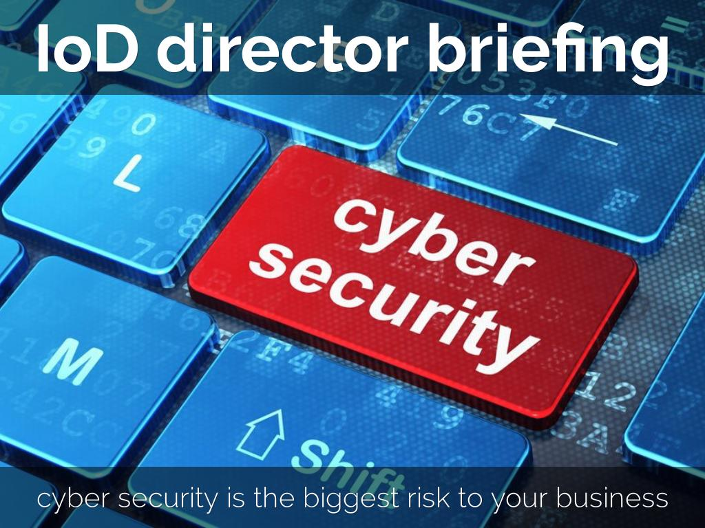 Directors Briefing - cybersecurity